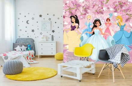 Princesses paper photo wallpaper for nursery